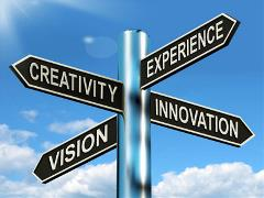 Creativity-Experience-Innovation-Vision-Signpost-Means-Business-400x300