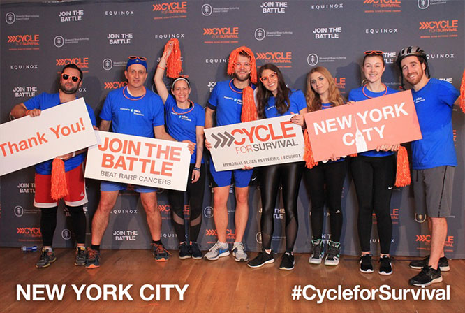 cycle for survival team photo